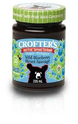 Crofters – Tartinade bleuet sauvage just fruit biologique