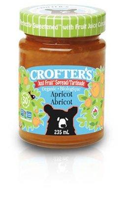 Crofters – Tartinade abricot just fruit biologique