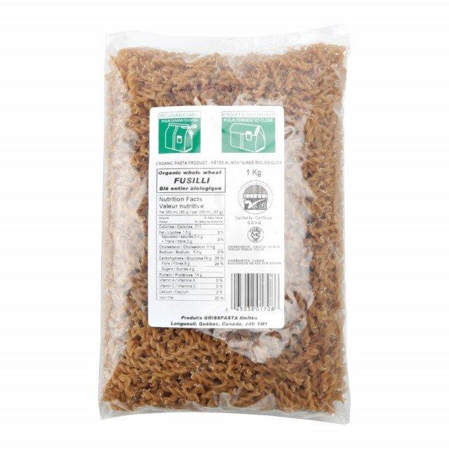 Pâtes alimentaires - Macaroni de blé entier biologique 1Kg Vrac
