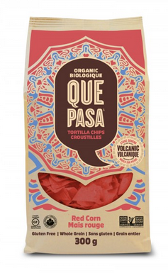 Que Pasa - Chips tortillas de maïs rouges biologique 300g