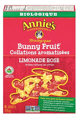 Jujubes - Bonbons Annie's collations bunny Fruit limonade rose bio 115g