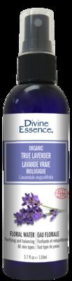 Divine Essence - Eaux florales Lavande vraie fortifiée avec HE bio 110ml