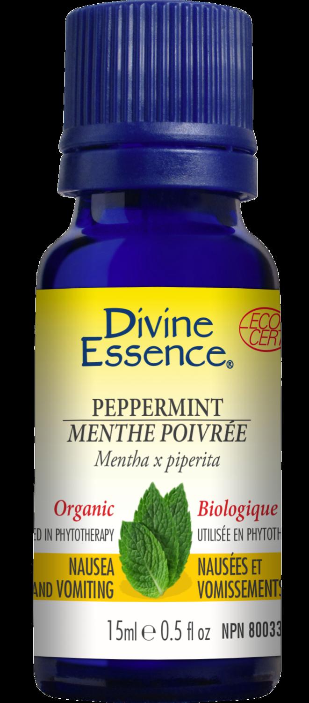 Divine Essence - Huile essentielle Menthe poivrée bio 15ml