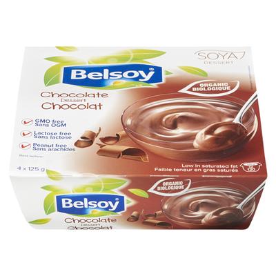 Belsoy - Pouding au chocolat bio 4x125g