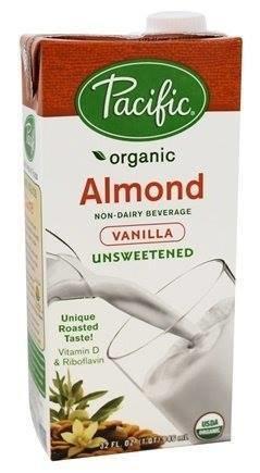 Pacific - Boisson amande vanille non sucrée bio 946ml 8046