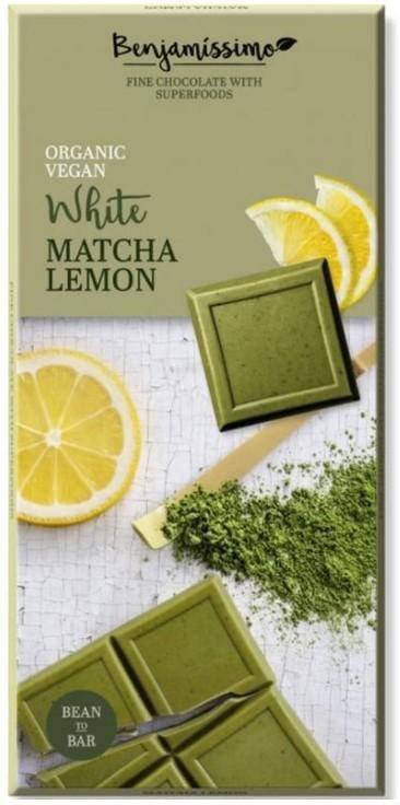 Benjamissimo - Chocolat blanc matcha citron bio 70g TX6094