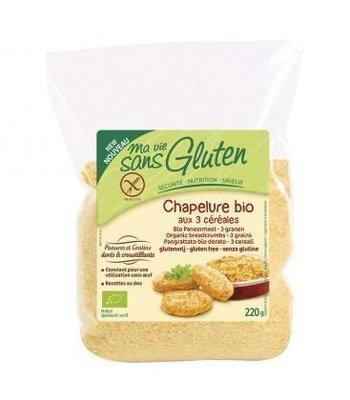 Ma vie sans gluten - Chapelure 3 céréales sans gluten bio 220g