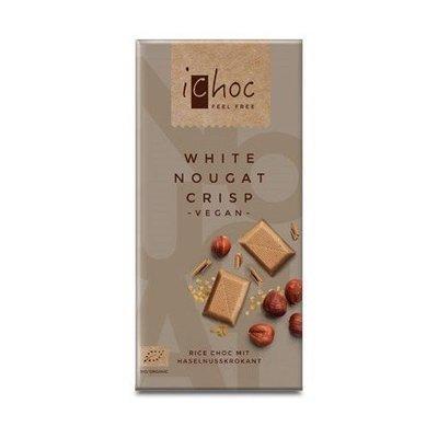 iChoc – White nougat crisp chocolat bio 80g