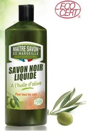 Maitre Savon De Marseille - Savon noir liquide à l'huile d'olive bio 1L TX11090