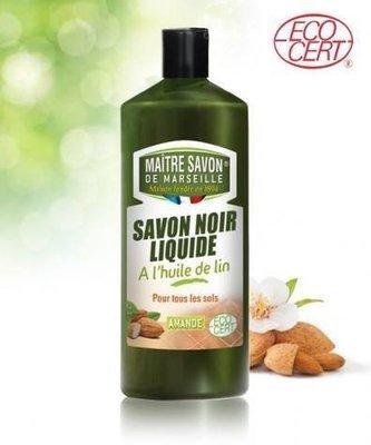 Maitre Savon De Marseille - Savon noir liquide à l'huile de lin bio 1L