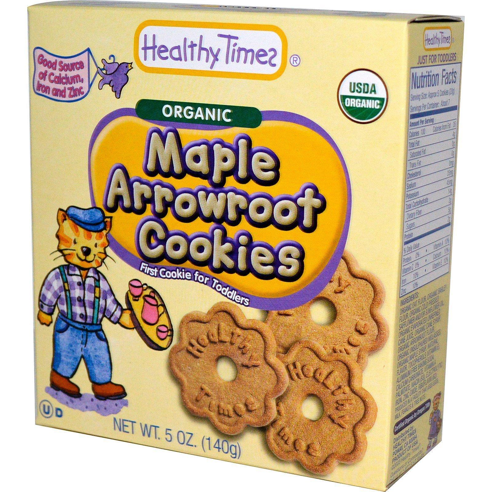 Heatly Times - Biscuits Hugga Bear amarante érable pour enfant bio 142g 6100