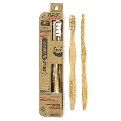 Senzacare - Brosse à dent bambou pour adulte biodégradable