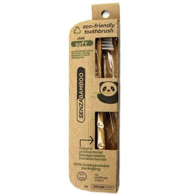 Senzacare - Brosse à dent bambou pour enfant biodégradable