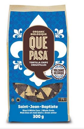 Que Pasa - Chips tortillas de maïs biologiques édition spécial Saint-Jean-Baptiste 300g TX19064