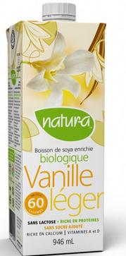 Natura - Boisson de soya à la vanille léger format 946ml 10047