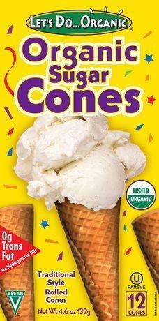 Let's Do Organic - Cornets sucrés bio à crème glacee TX6124