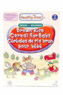 Healthy Times - Céréales pour bébé riz brun bio 227g : 5,5$ 6125