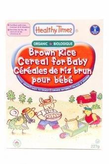 Healthy Times - Céréales pour bébé riz brun bio 227g : 5,5$