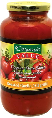 Organic Value - Sauce pour pâte ail grillé bio 700ml