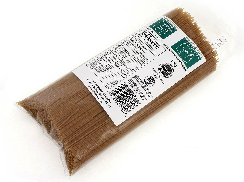 Pâtes Alimentaires - Spaghetti de blé entier bio1Kg Vrac