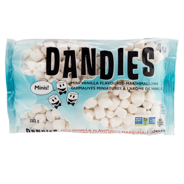 Dandies – Guimauves Marshmallow miniatures vanille sans OGM 283G