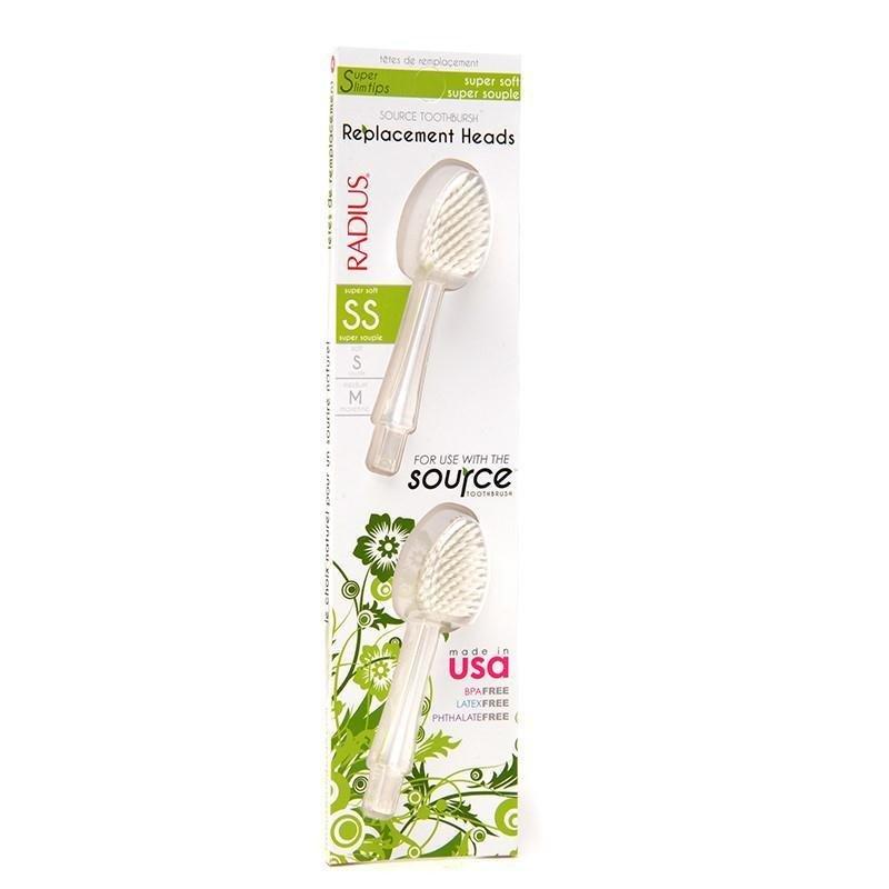 Radius - Têtes de remplacement très soupes pour brosse à dents