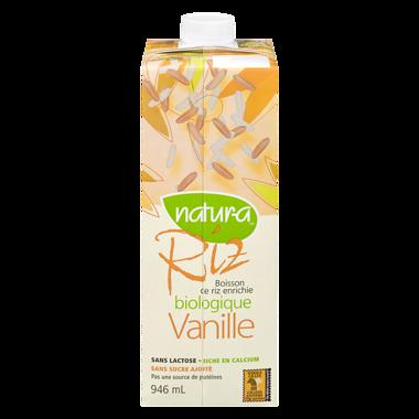 Natura - Boisson de riz à la vanille biologique 946ml
