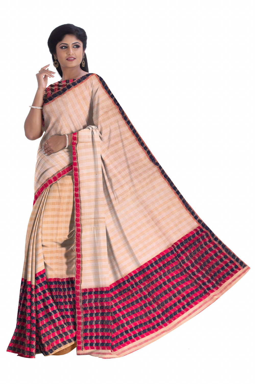 Ready To Wear Kesa paat Mekhela chador With heavy work blouse