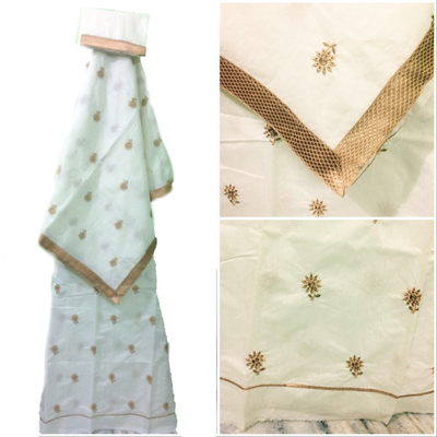 Mekhela Chador with Golden Zari work