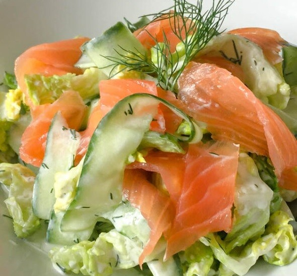 Truffle Infused Cold sMoked Salmon Salad