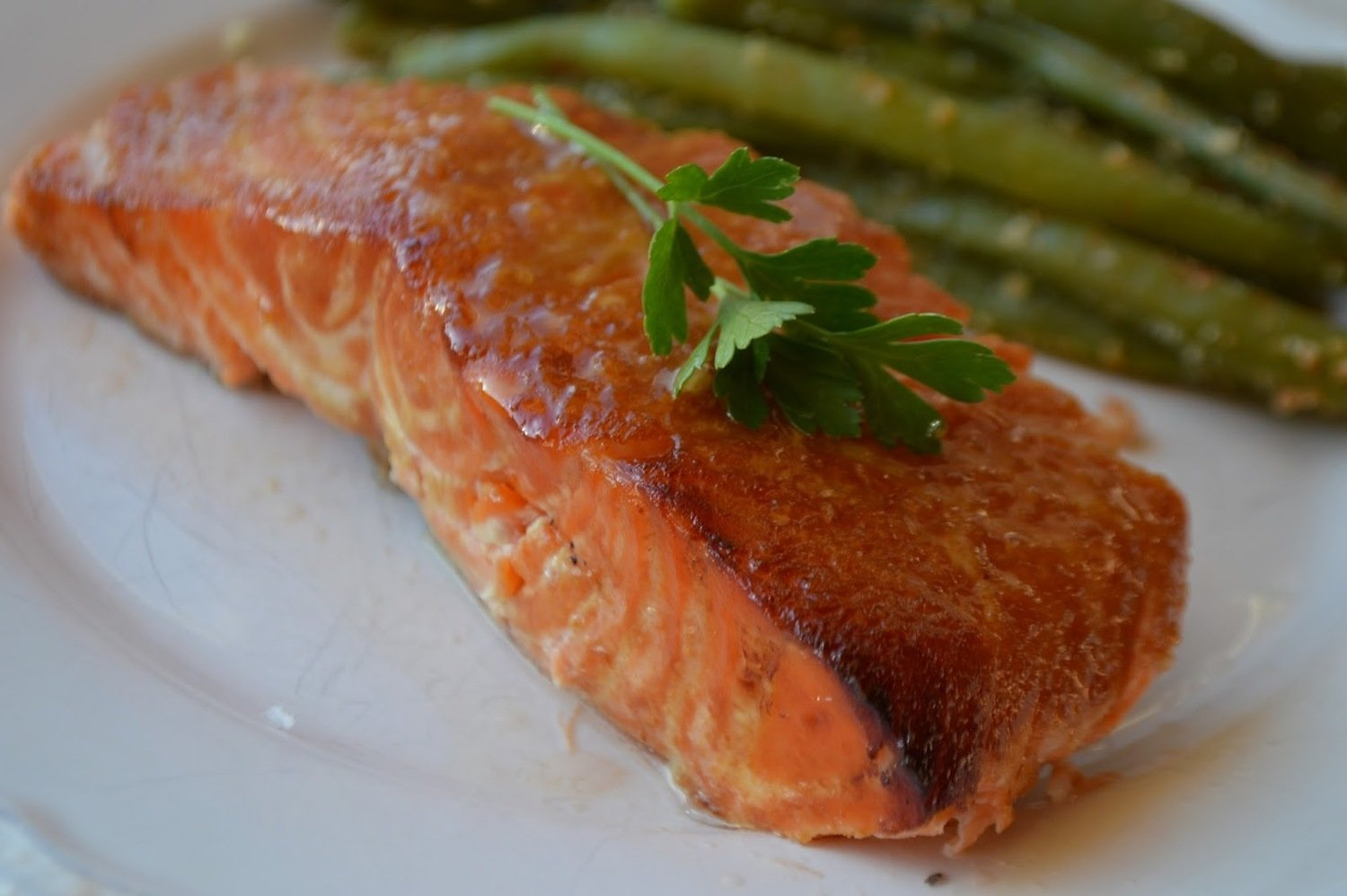 Cafe Infused Salmon Portion Baked in Real Wood sMoke