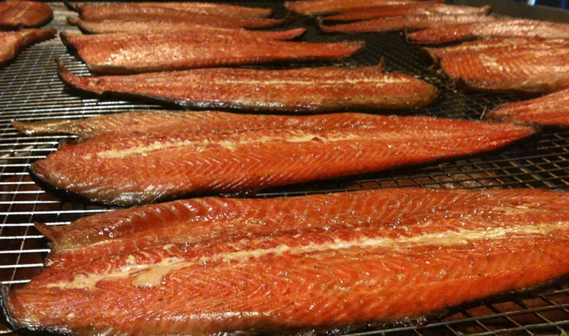Porcini & Red Wine Naturally Infused Salmon Fillet Hot sMoked in Real Wood