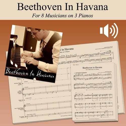 Beethoven In Havana - Score, Parts, and Play-Along Audio