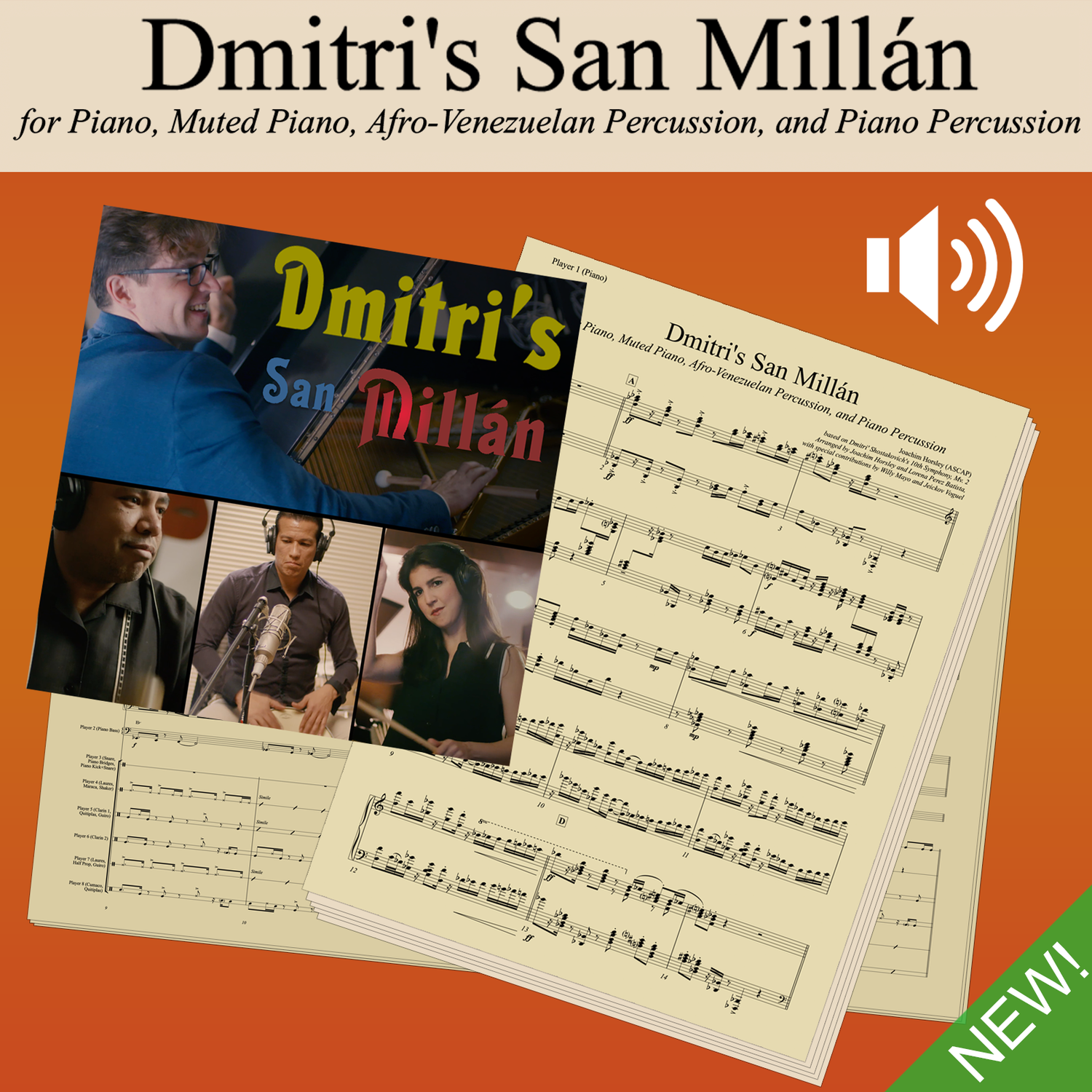 Dmitri's San Millán - Score, Parts, and Play-Along Audio