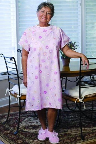 Shoulder Opening Short Sleeve Nightgown
