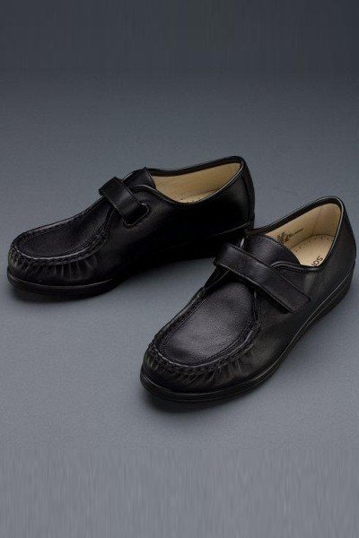 Women's Adjustable Leather Shoes (Black)