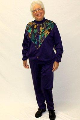 Designer Long Sleeve Set with Patterned Top