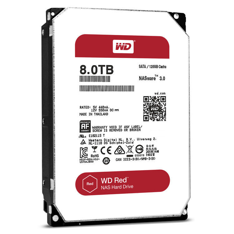 "WD 8TB Red 5400 rpm SATA III 3.5"" Internal NAS HDD"