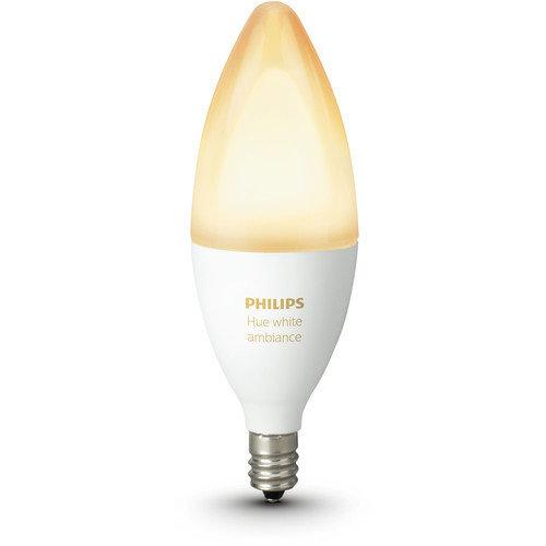 Philips Hue Single Bulb E14 White Ambiance B39 6W