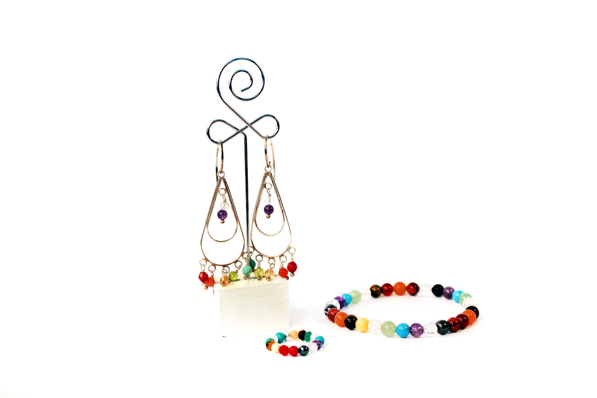 Conjunto pulsera, anillo y pendientes Habibi 010