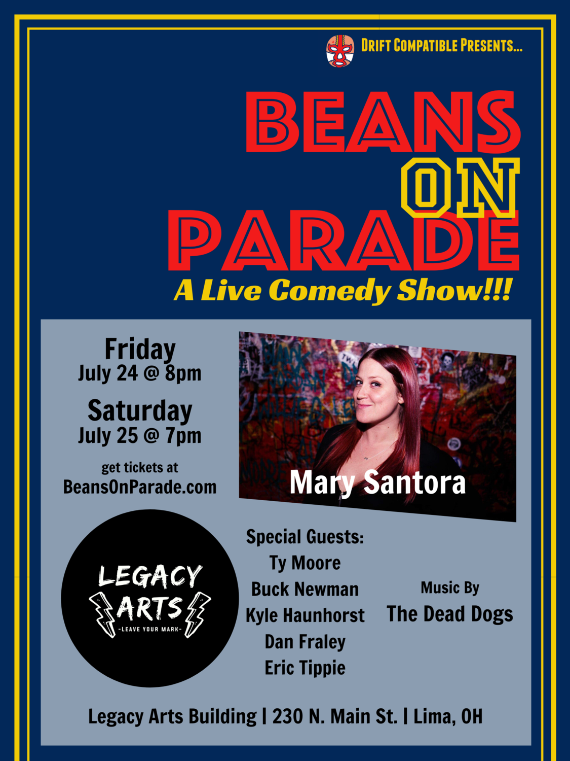 ADVANCE TICKETS - Beans on Parade; July 24-25, 2020