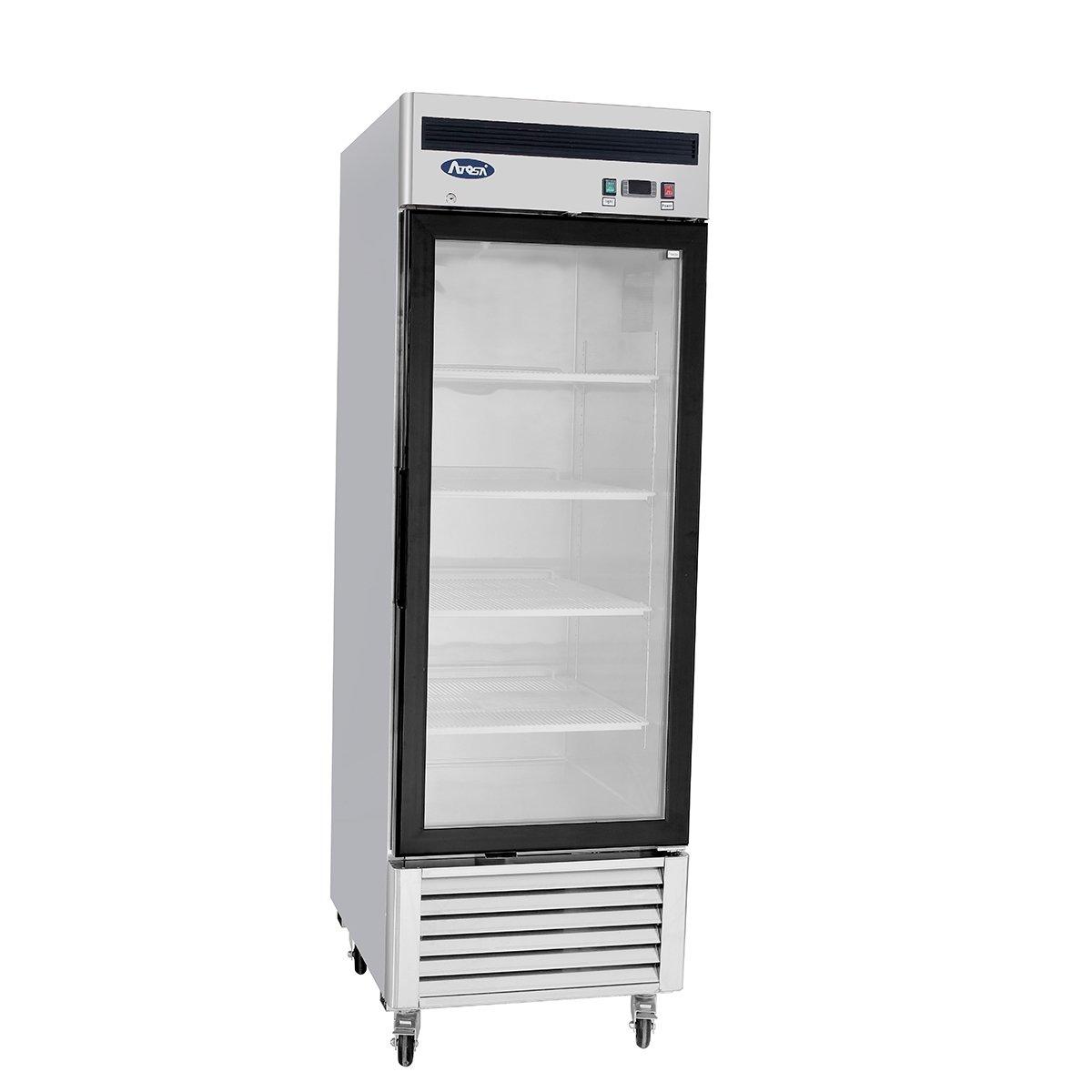 One Glass Door Freezer Bottom Mount