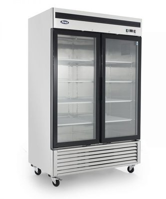 Bottom Mount (2) Two Glass Door Freezer