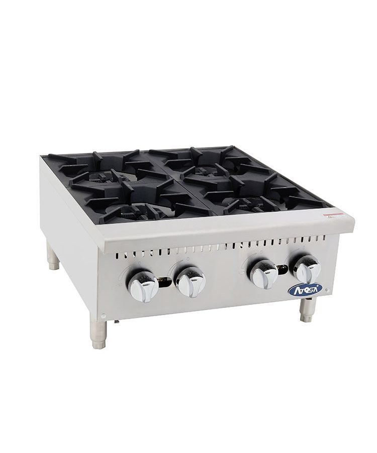 "Atosa CookRite ATHP-24-4 Heavy Duty 24"" Four Burner Hot plate"