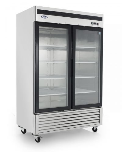 Two Glass Door Refrigerator, Bottom Mount