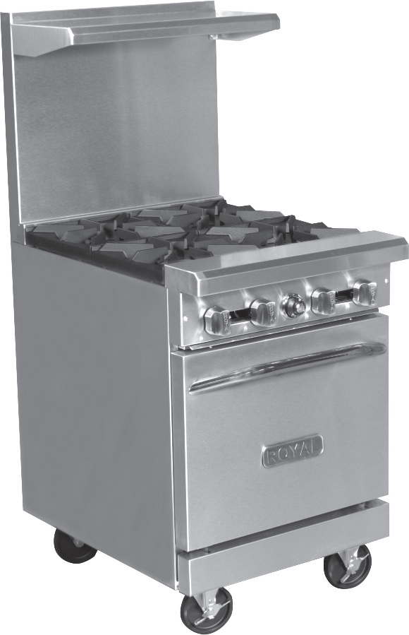 "Royal 24"" Range Four Burners with Oven RR-4"