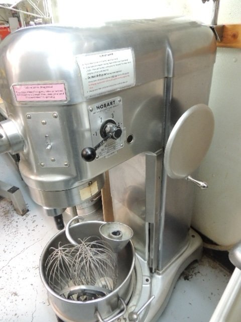 Used Hobart 60Qt. mixer, Anodized Body approved by USDA,