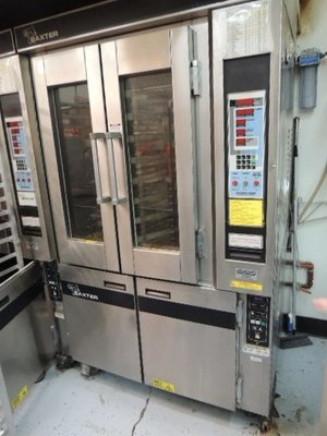 Baxter mini rotating rack oven with double door proofer below