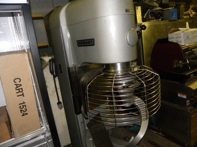 Used Hobart V-1401 140 Qt. mixer, refurbished, bowl, 3 attachments and safety guard