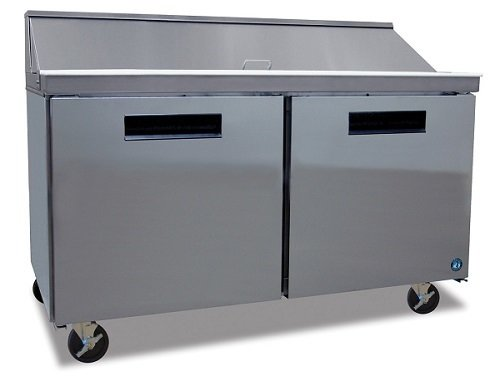 "Hoshizaki Two Door Sandwich Prep Table Refrigerator 60"" 16 pans"